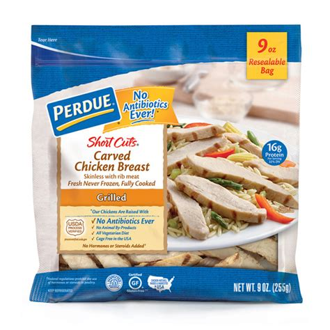 Shelf Of Cooked Chicken Breast by Perdue 174 Cuts 174 Carved Chicken Breast Grilled 9 Oz