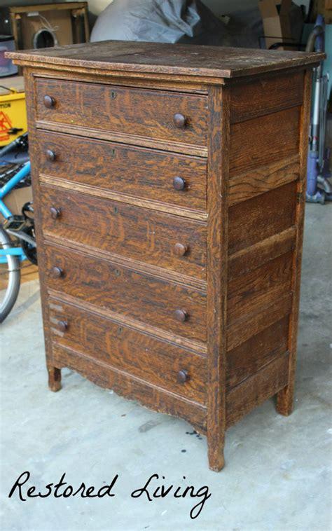 antique tiger oak dresser java general finishes design center