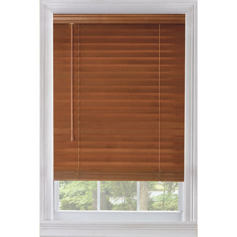 Custom Wood Blinds Custom Size Now By Levolor 29 In W X 54 In L Warm Cherry