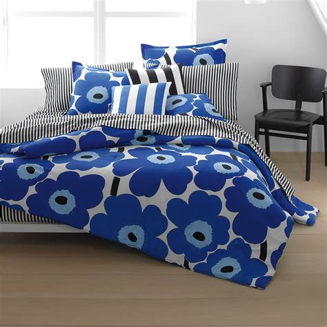 marimekko bedding marimekko unikko true blue duvet cover comforter sets