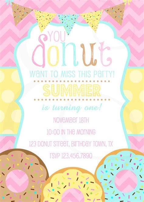 1000 Images About Donuts On Pinterest Straws Krispy Kreme Doughnut And Krispy Kreme Free Donut Invitation Template