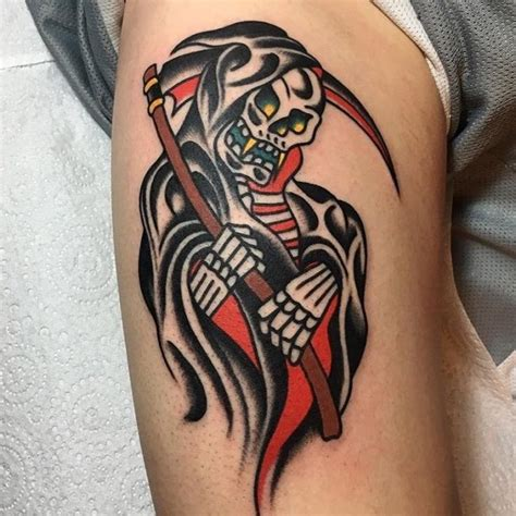 good luck tattoo designs 95 best grim reaper designs meanings 2018