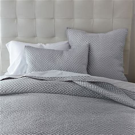 grey patterned bedspreads lexington coverlet shams west elm light patterned