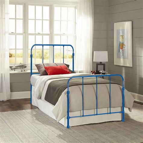 metal twin headboard and footboard fashion bed group nolan cobalt blue twin headboard and
