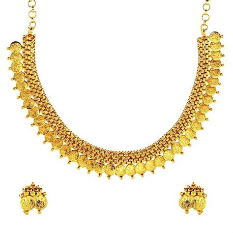 buy crystal jewelry sets onlinelaxmi coin setsearrings buy lakshmi gold coin temple antique traditonal necklace