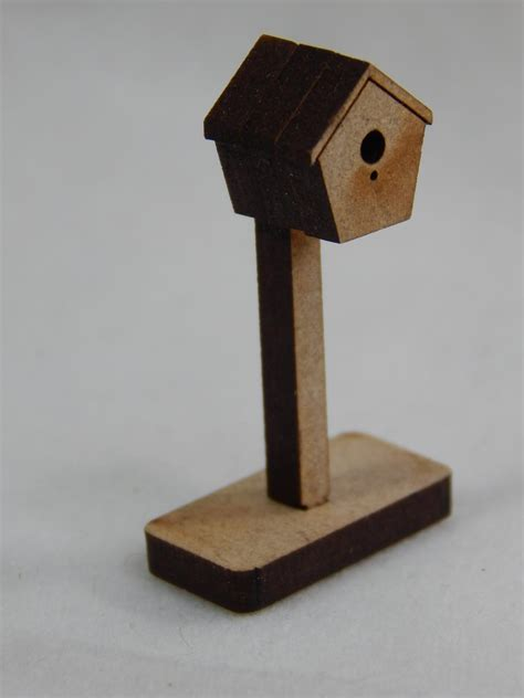 dollhouse miniature 75 quot x1 5 quot bird house on stand z298