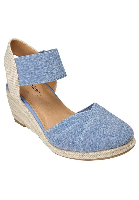 comfort view shoes wide width abra espadrille by comfortview sandals from