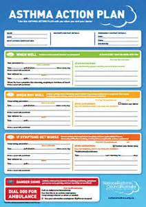asthma care plan template asthma plan and asthma treatment brighton family