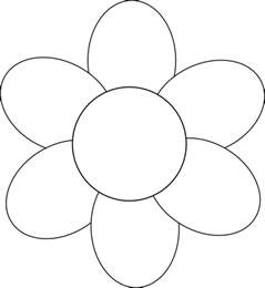 Flower Outline by Flower Six Petals Black Outline Clip At Clker Vector Clip Royalty Free
