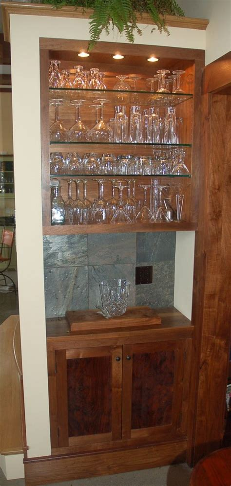 built in bar cabinets for home handmade custom claro walnut built in bar and cabinet by