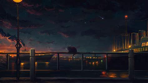 anime landscape android wallpaper anime landscape sky city light sky sea ship wallpaper