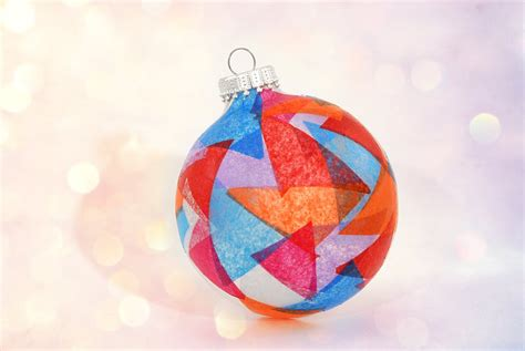 how to make a stained glass christmas ornament best