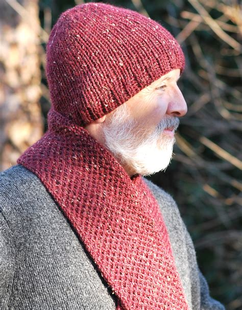 loom knit mens hat s basic hat and scarf knit 171 kb looms
