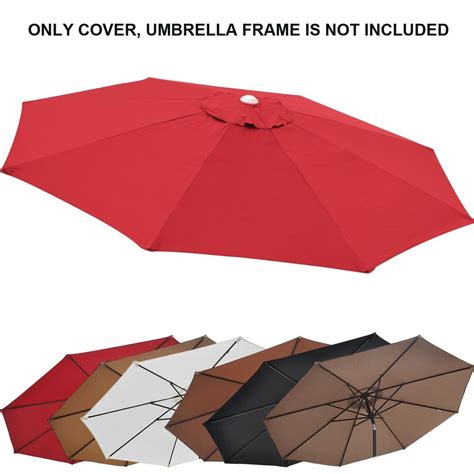 10ft Patio Umbrella Cover Canopy 8 Rib Replacement Top