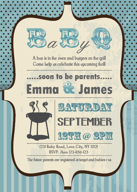 Baby Shower Bbq Invitations by Baby Shower Bbq Invitations Theruntime