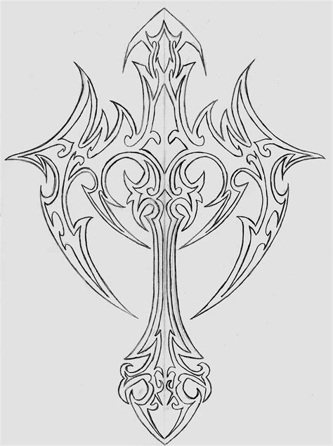 tattoo cross designs free cross stencil tattoo images