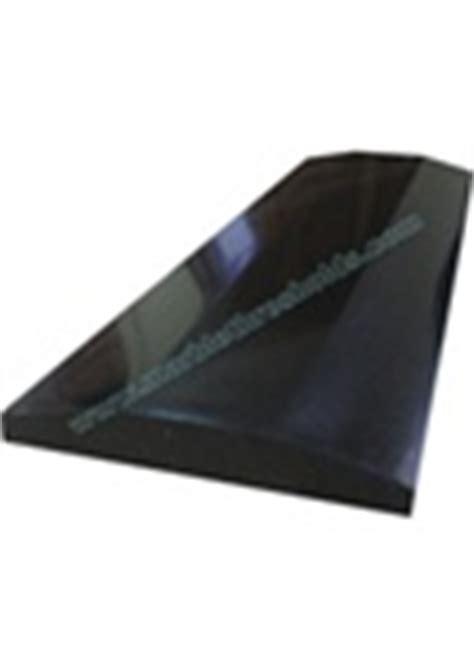 absolute black polished granite threshold