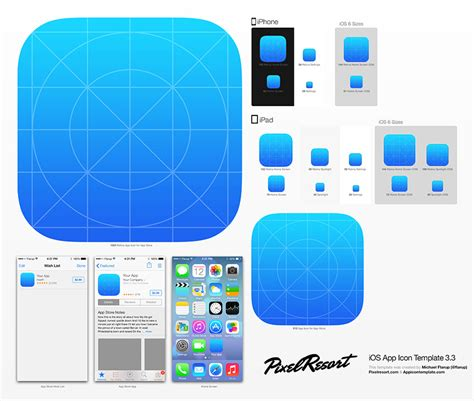 iphone app logo template app icon template photoshop to automatically