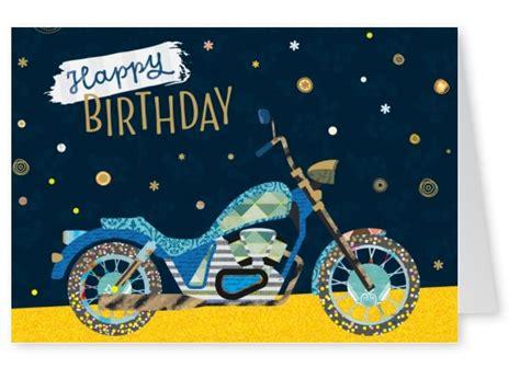 Free Printable Motorcycle Birthday Cards