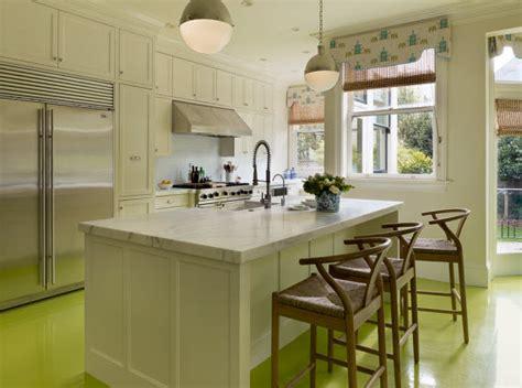 yellow kitchen floor designer kitchen with painted floors simplified bee