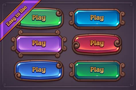 game maker layout fantasy game button maker design buttons and fantasy
