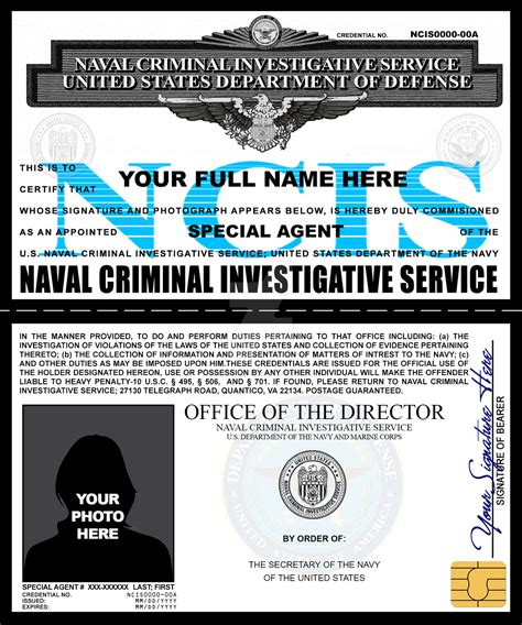 Enforcement Id Card Template by Ncis Credentials By Rustybauder On Deviantart