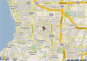 map of torrance california map of travelodge torrance torrance