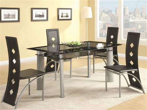 fontana modern glass dining table set 5 pc 121051 5