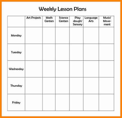 5 editable weekly lesson plan template mail clerked