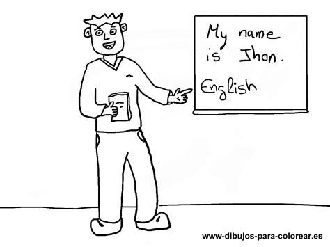 dibujos infantiles ingles el profesor de ingles del colegio dibujos para colorear