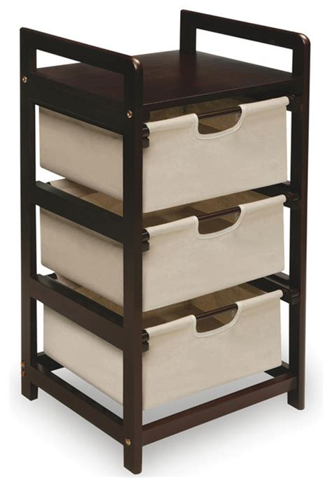 Closet Storage Shelves And Drawers Espresso 3 Drawer Storage Unit Contemporary Closet