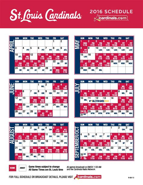 Stl Cardinals Giveaways - st louis cardinals regular season printable schedule 2018 autos post