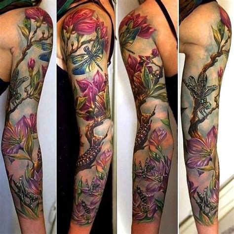 tattoo background color nature tattoo sleeve tattoos pinterest floral sleeve