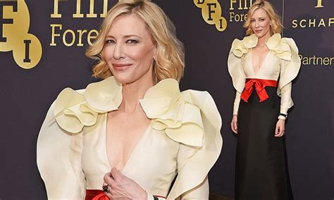 Cate Blanchett Stuns Again by Cate Blanchett Stuns In Ruffled Dress At Bfi Gala
