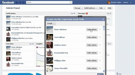 how to make your own facebook page with fans how to make someone admin of your facebook page youtube