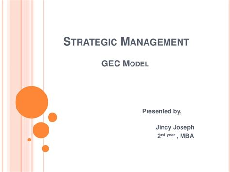 Mba Strategic Management by 2nd Mba Strategic Management