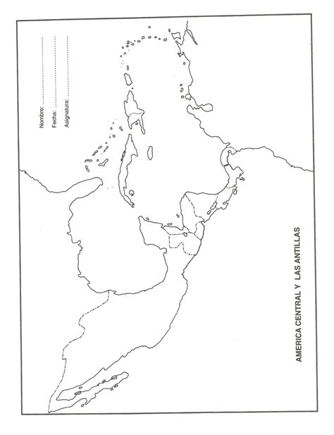 mapa america central y antillas mapas en blanco eduorgullomocano