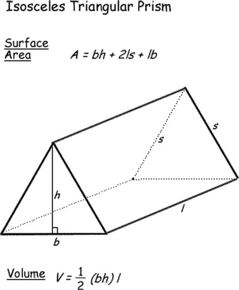How To Make A Triangular Prism Out Of Paper - surface area and volume formulas for geometric shapes