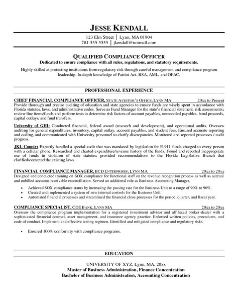 Regulatory Compliance Officer Sle Resume by Aml Officer Sle Resume Mitocadorcoreano