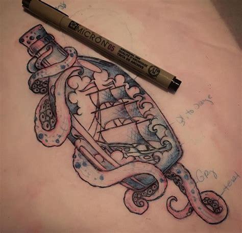 like a tattoo ship in a bottle idea ideas tattoos