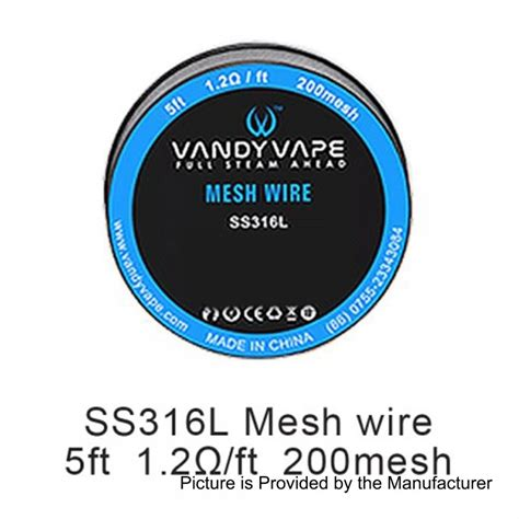 Mesh Wire By Vandy Vape Authentic authentic vandy vape ss316l mesh wire 1 2 ohm wire for