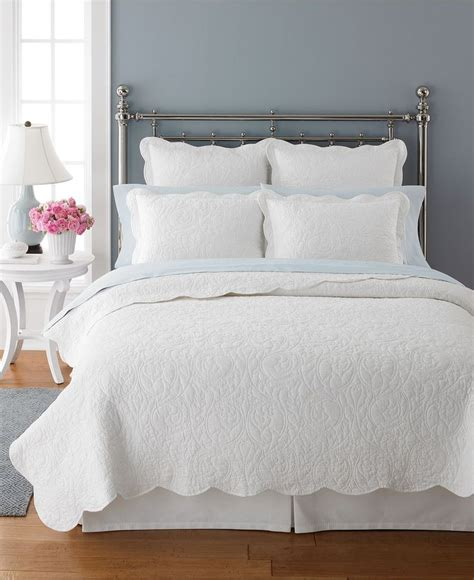 martha stewart bedding collections closeout martha stewart collection damask trace white quilts