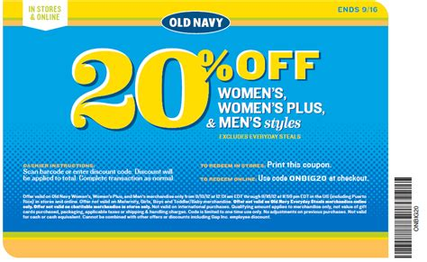 old navy printable coupons may old navy 20 off printable coupon