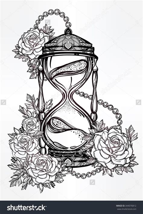 est tattoo ideas drawings brubwynus hand drawn romantic beautiful drawing of a hourglass with