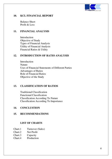 Financial Analysis Project Report For Mba by 49843624 Project Report On Financial Statement Analysis Of