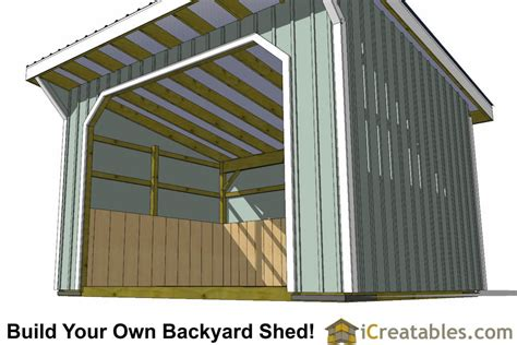 run  shed plans  lean  style roof