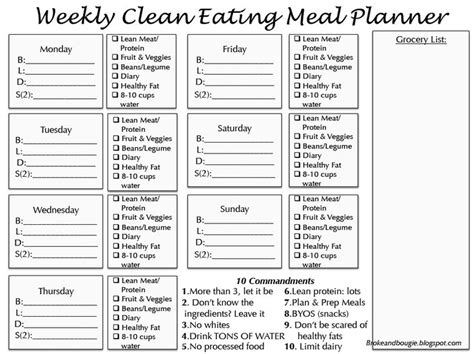 printable meal prep planner 24 best images about clean eating on pinterest