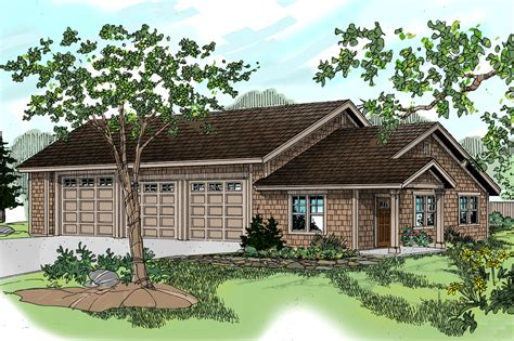 craftsman house plans rv garage w living 20 042