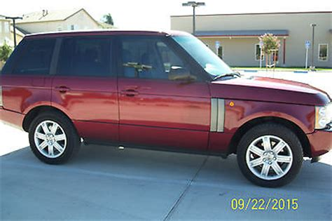 burgundy range rover 2004 land rover range rover hse sport ulility 4wd rare