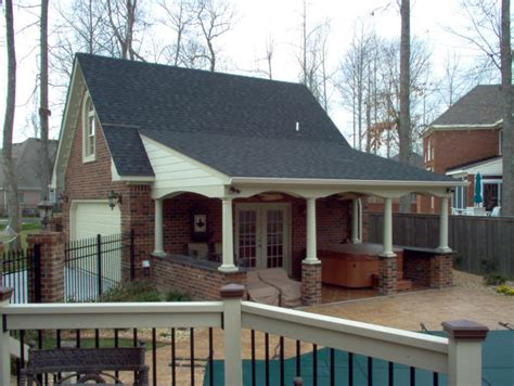 pool house garage garage pool house combos 20 x24 super custom full brick